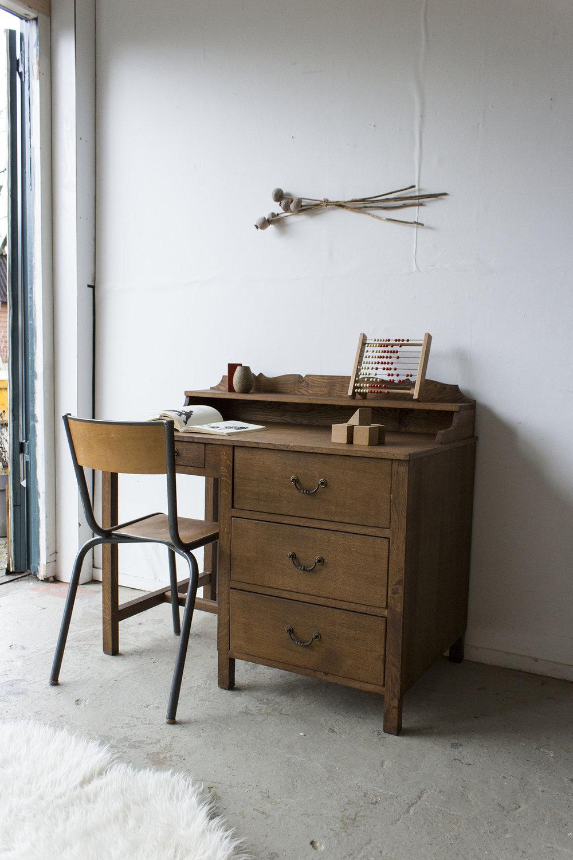 3159 - eikenhouten vintage bureau - Firma zoethout.jpg