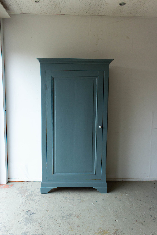 1465 - Grijsblauwe vintage kledingkast-5.jpg