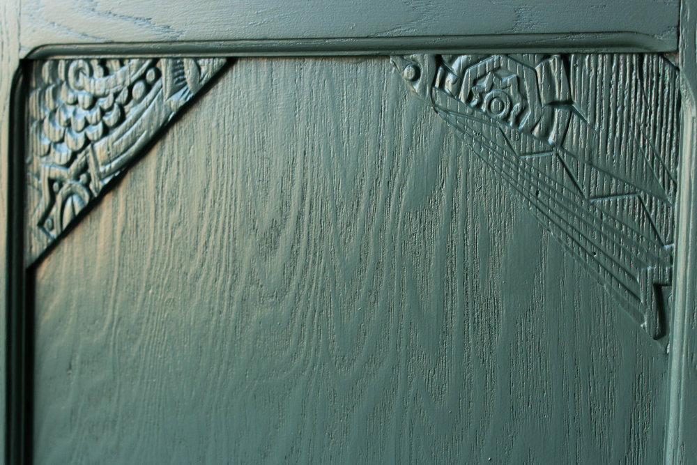 2176 - Dennengroene vintage commode-2.jpg
