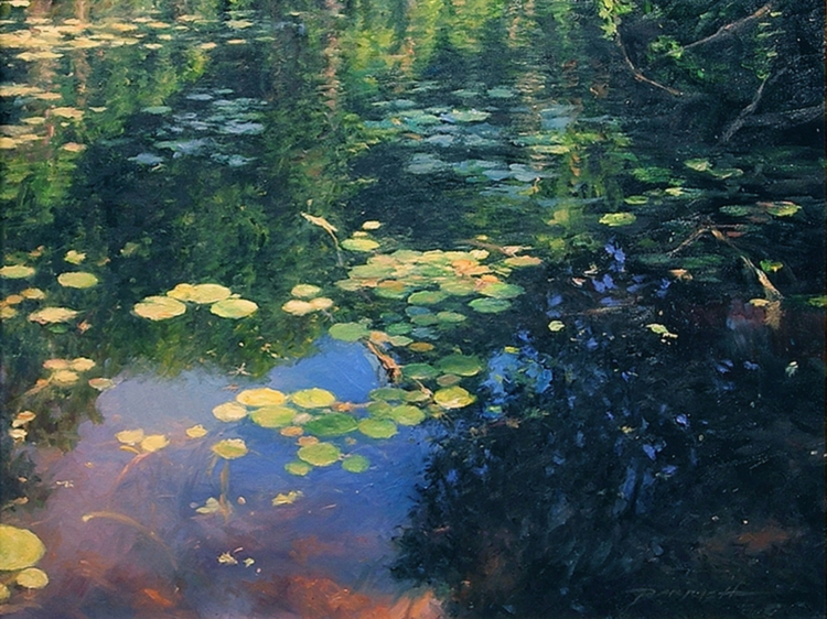 """SILL WATER"" By Bradley J. Parrish,  Oil on Canvas   16""h x 20""w"