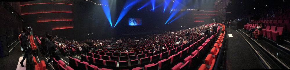 Inside the  Palais des congrès  de  Paris  an hour before the show started.