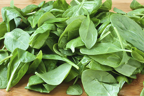 Spinach -This crop loves cool weather, the leaves are dark green, sweet and mild. Steam it, saute it or eat it right out of the bag! Sold in bags of 8 oz. each.