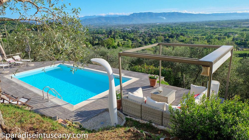 Villa del Cardinale: The pool area