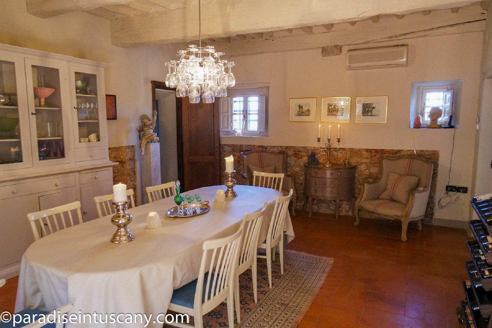 Villa del Cardinale: The dining room