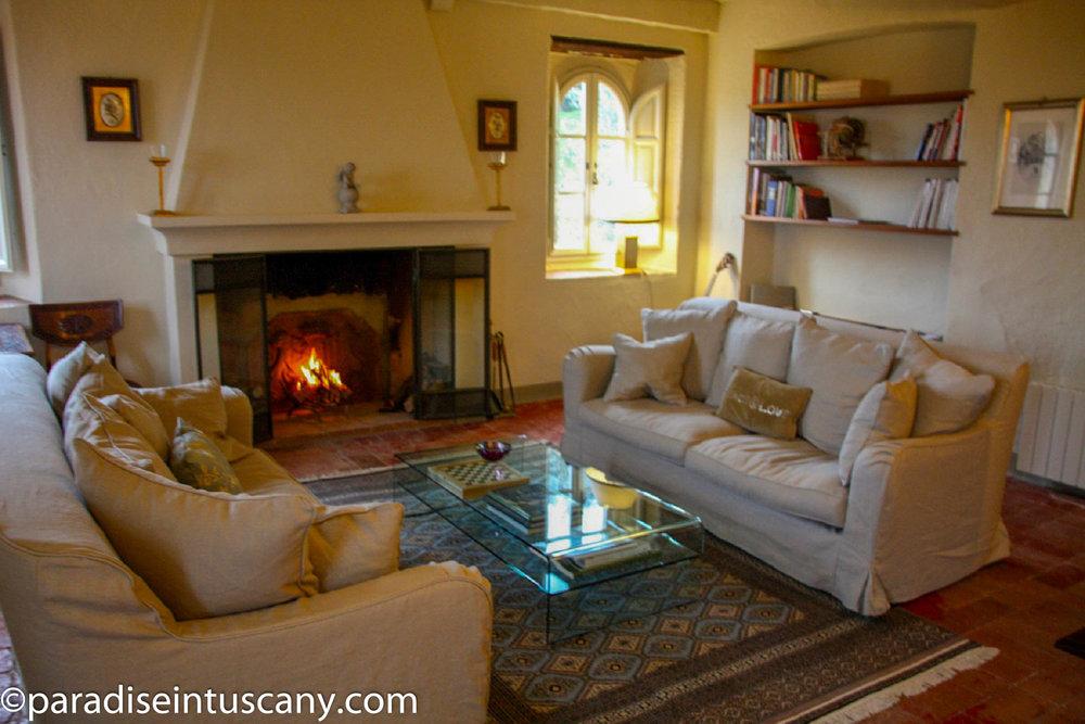 Villa del Cardinale: The living room