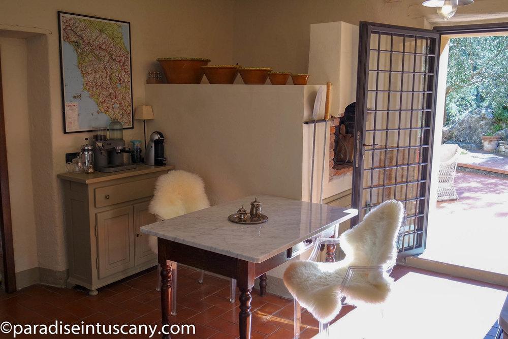 Villa del Cardinale: The kitchen