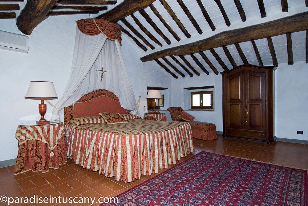Villa del Cardinale: The double bedroom on the 3rd floor