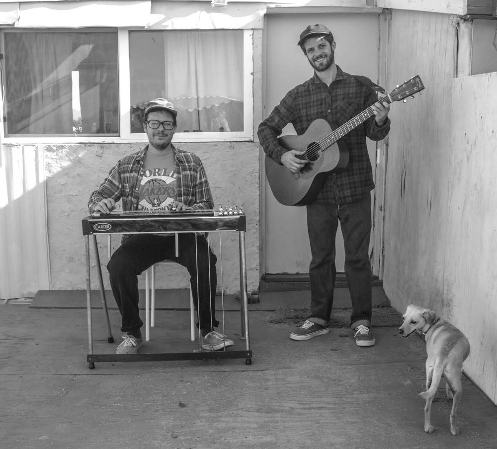 Logsdon with pedal steel player Dave McPeters