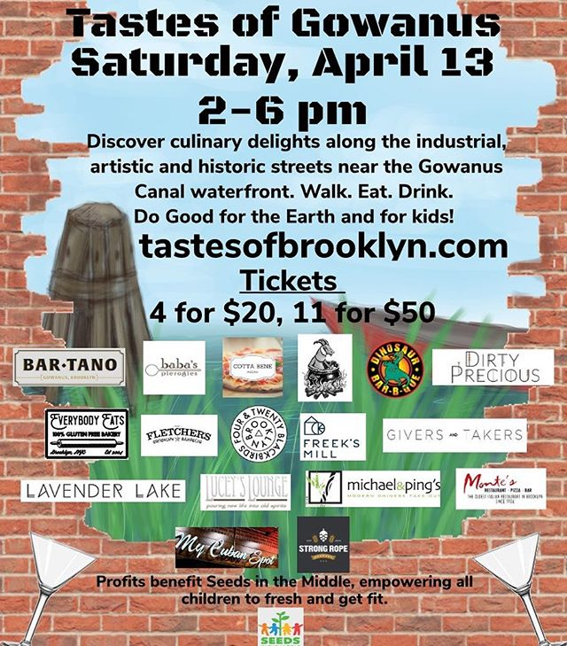 TOMORROW !! Walking tasting tour of Gowanus. Grab your tickets with us before they sell out! Catch all your local favorites and enjoy a yummy bite or a tasty sip. Profits benefiting @seedsinthemiddle 💪🌱💪🌱 . . . #neighborhood #local #gowanus #walkeatdrinkdogood #saturday #tasteofbrooklyn #backyard #brews #babes #localsonly