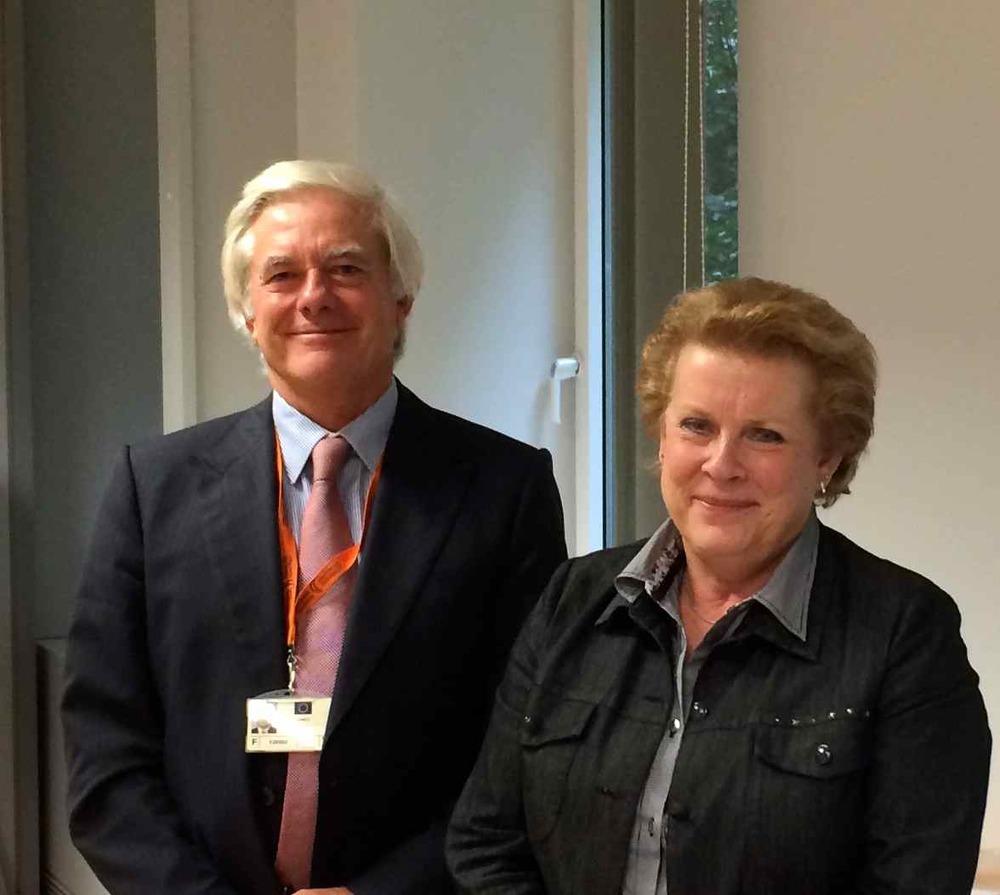 Coordinator of the North Sea - Baltic Core Network Corridor, Mrs. Trautmann and Chief Adviser, Mr. Pond. (Photo MPC)