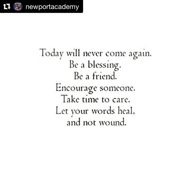 Take advantage of the opportunities in front of you. End today on a #Positive note!  #Repost  @newportacademy with @repostapp ・・・ Show up how you want to be met today. 💛 #EmpoweringTeens #LoveEachOther #Heal #BetheLight