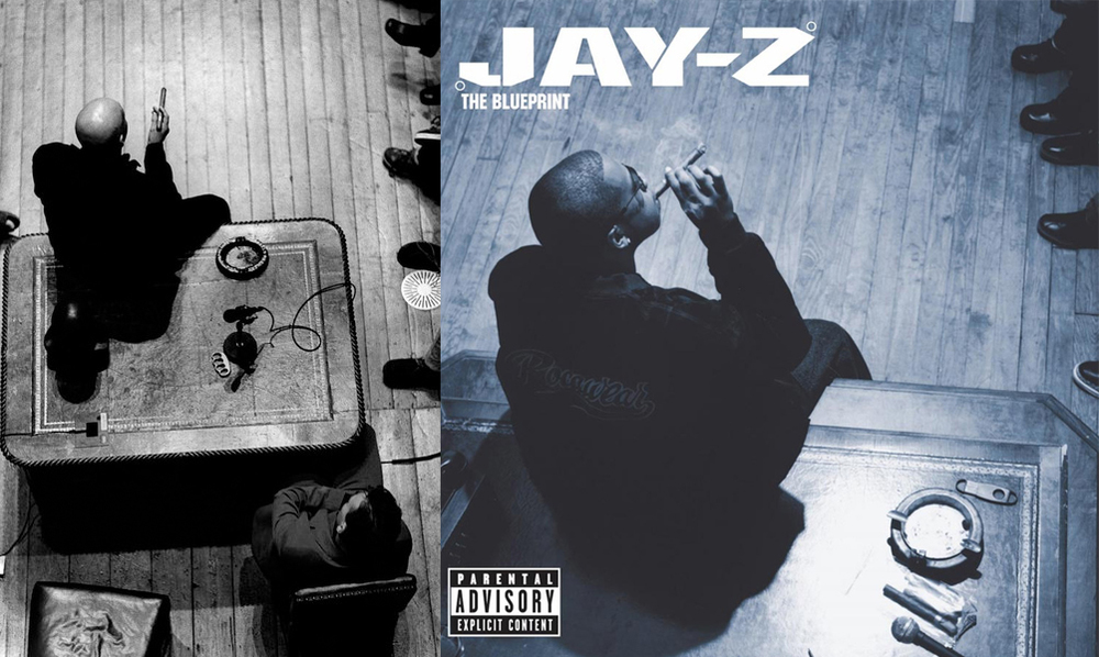 The evolution of jay zs cover art from reasonable doubt to 4 displaying a ceo big man in the room motif the blueprints cover was malvernweather Images
