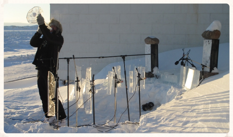 Recording 'Ice Music' in February, Iqaluit NU