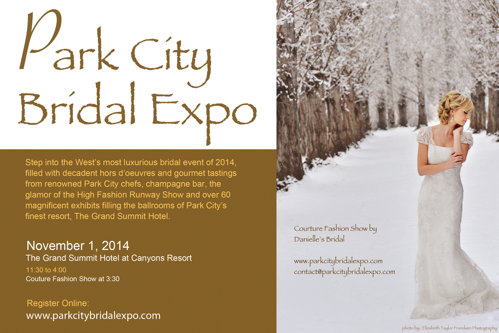 Lilac Floral will be a vendor at the upcoming Park City Bridal Expo. Come see us at booth #25. We have up to 5 FREE VIP Passes so be sure to send us a message at info@lilacfloral.com or visit our 'Contact' page and send us a message there.  We are looking forward to meeting some future brides! Cheers!
