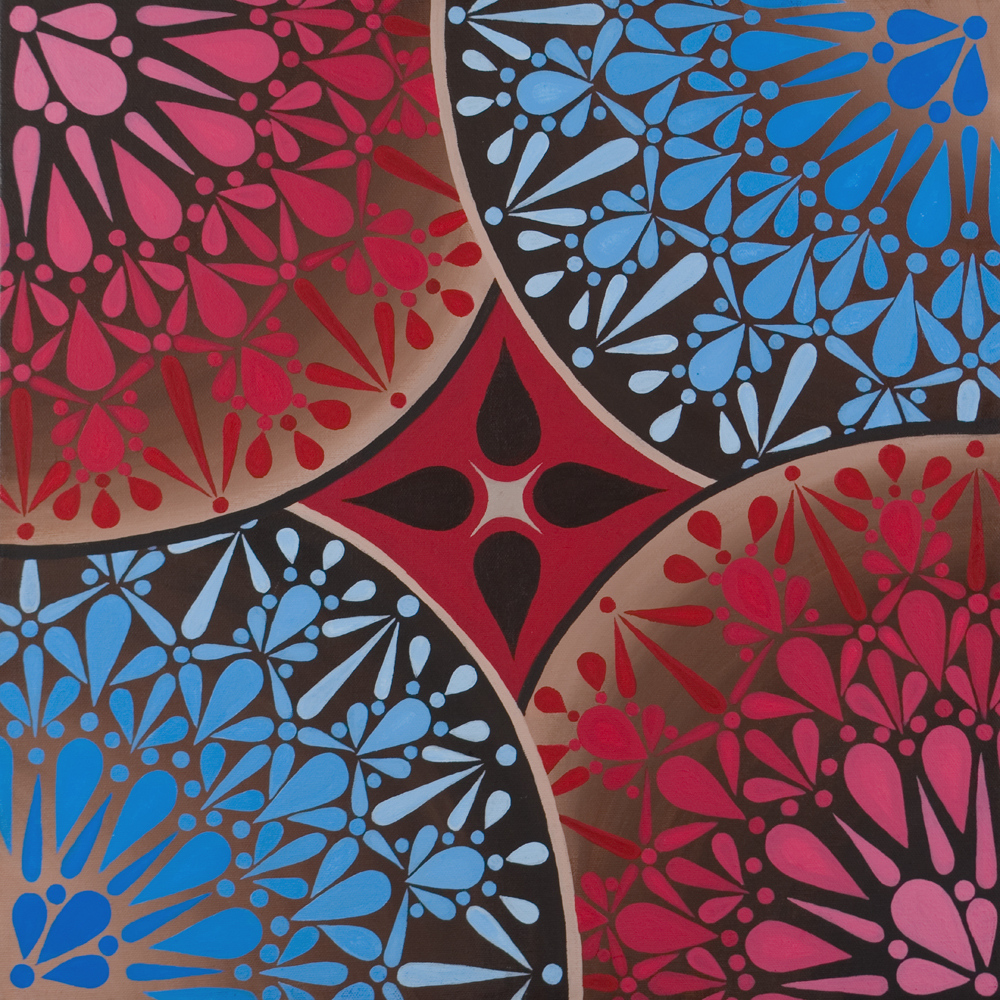 Red Blue and Umber Star