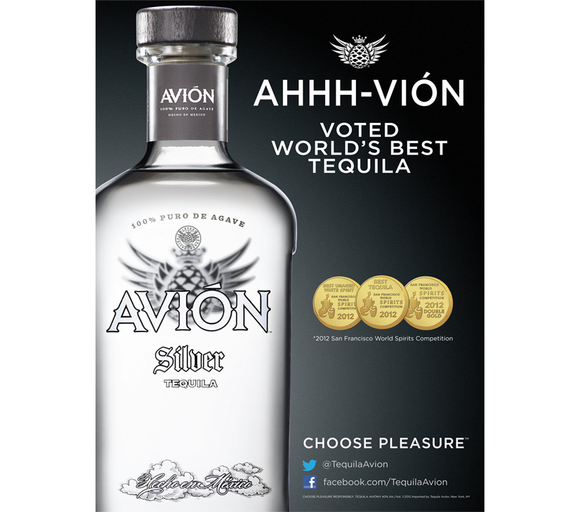 Tequila avion choose pleasure grant knapp creative for Avion tequila mixed drinks