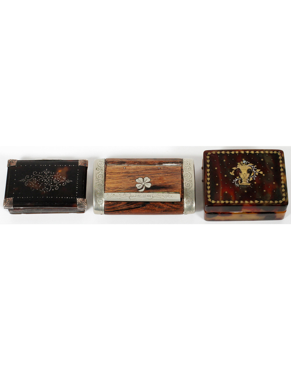 French Faux Tortoise Rosewood Boxes