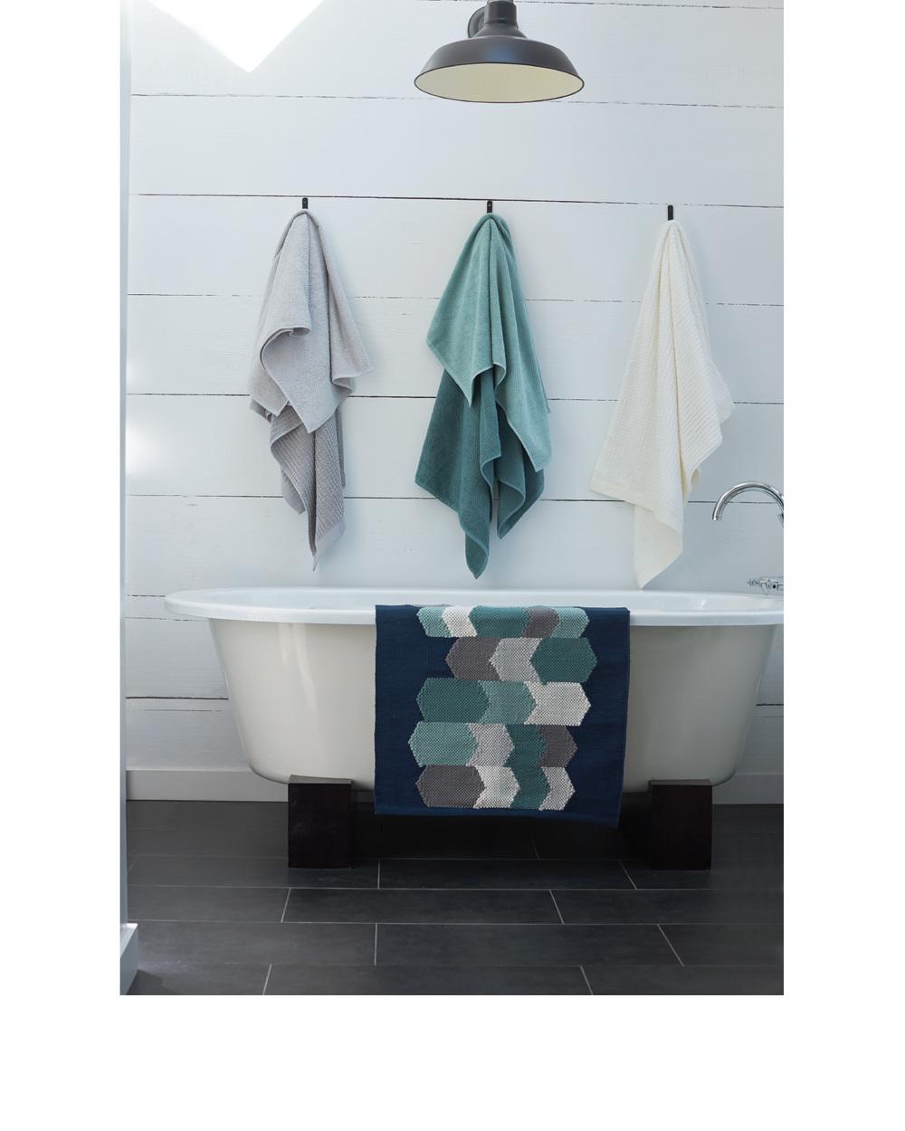 Air Weight Bath Towels,  coyuchi.com , $8-$128 // Hive Rug,  coyuchi.com , $68