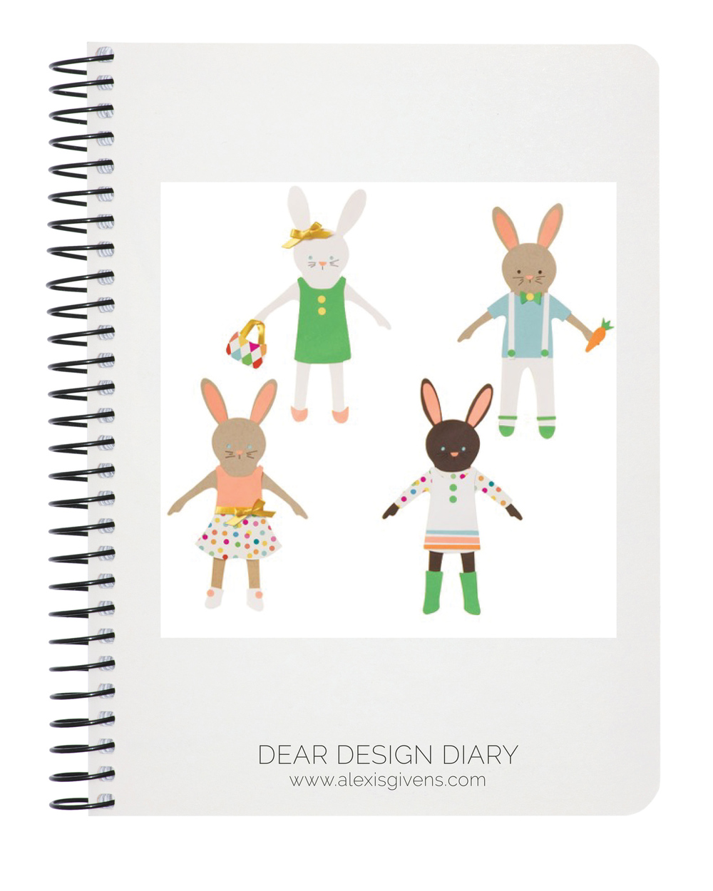 Bunny Paper Dolls Kit,  papersource.com , $19.95
