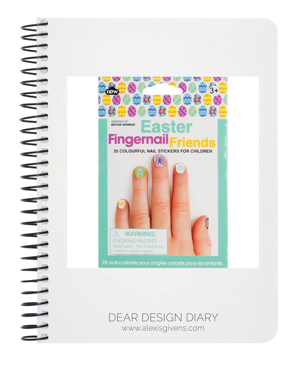 Easter Fingernail Friends,  papersource.com , $6.95