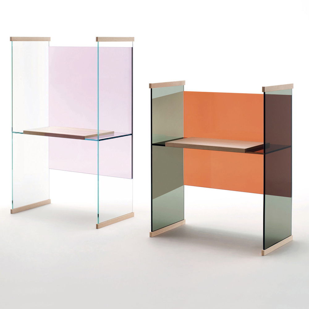 Alexis Givens Interiors | Weekly Finds, Glas Italia Diapositive Desk | deardesigndiary.com