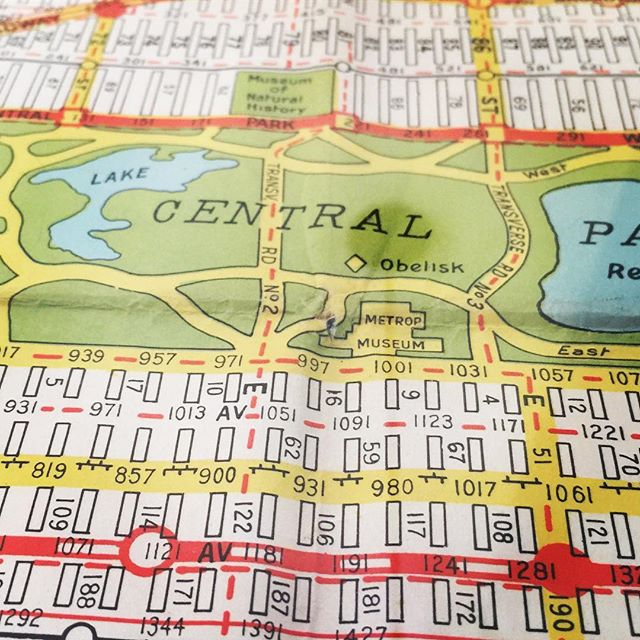 One of my favorite finds at #Brimfield a few years back. Vintage maps make my day especially when they feature #nyc.
