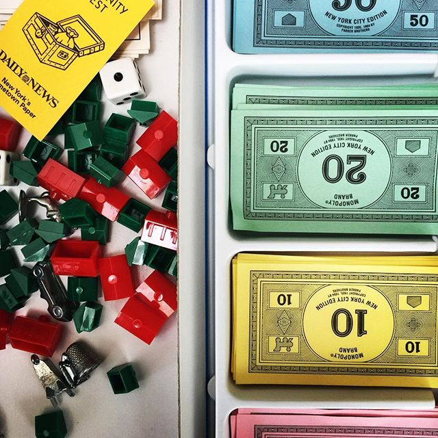 #Monopoly vacation day. Playing with a 7 year old is a new twist. Went with the I'm going to buy everything tactic. #oldfashionedfun #games #monopolymondays #monopolygame #boardgames