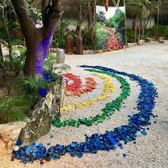 Created this installation right quick and exhibited a few photos for @oceanic.global and @our_habitas event in Tulum a couple of weeks ago. These are a few of the bottle caps that we've collected over the years in Sian Ka'an. Looking forward to more beach cleans, art and environmental education workshops, and creation in the coming year… Stay tuned! #accionesporlanaturaleza #washedupproject
