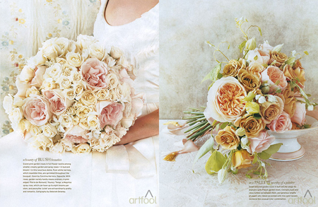 the inspiration chosen by the bride - bouquets by Artfool from the Winter 2007 issue of Martha Stewart Weddings