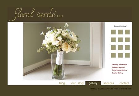 snapshot of the old Floral Verde website