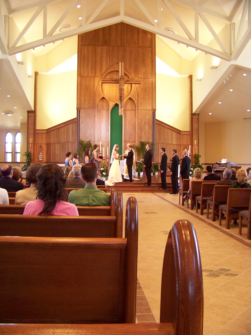 wedding at St Joseph Parish