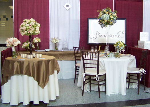 Floral Verde LLC booth at the 2009 Palace bridal show