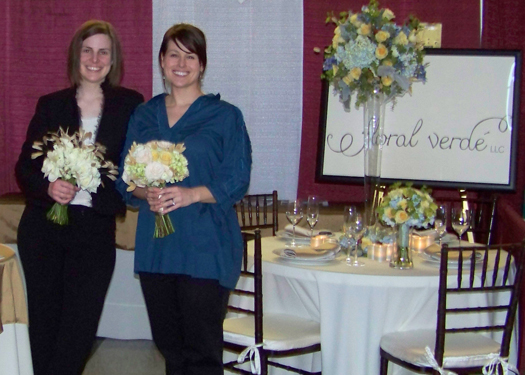 Allison and Janet at the end of the busy bridal show