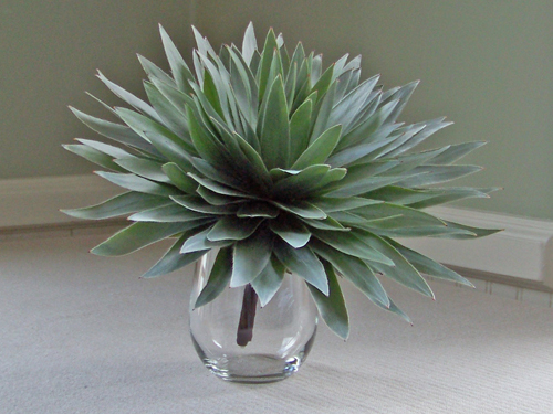Composite bouquet made of silver tree foliage