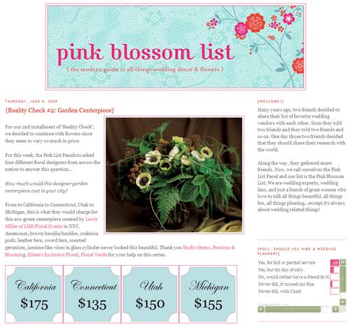 pink blossom list screen shot