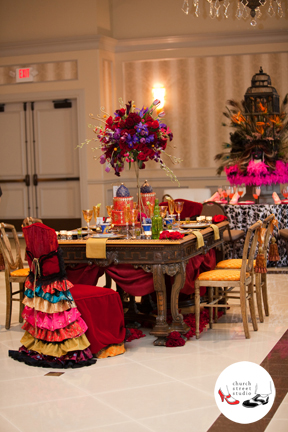 Moulin Rouge inspired tablescape.