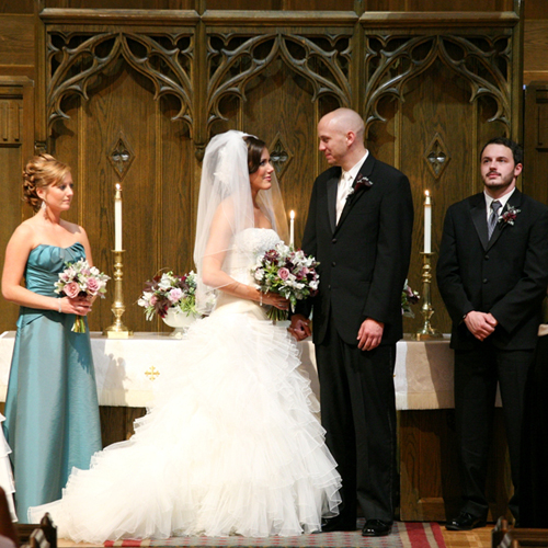 Laurie and Jon at the altar of the First Presbyterian Church of Flint