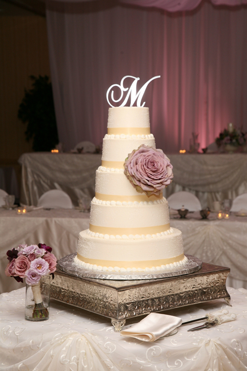 cake by the French Confection adorned by an Amnesia composite rose from Floral Verde LLC