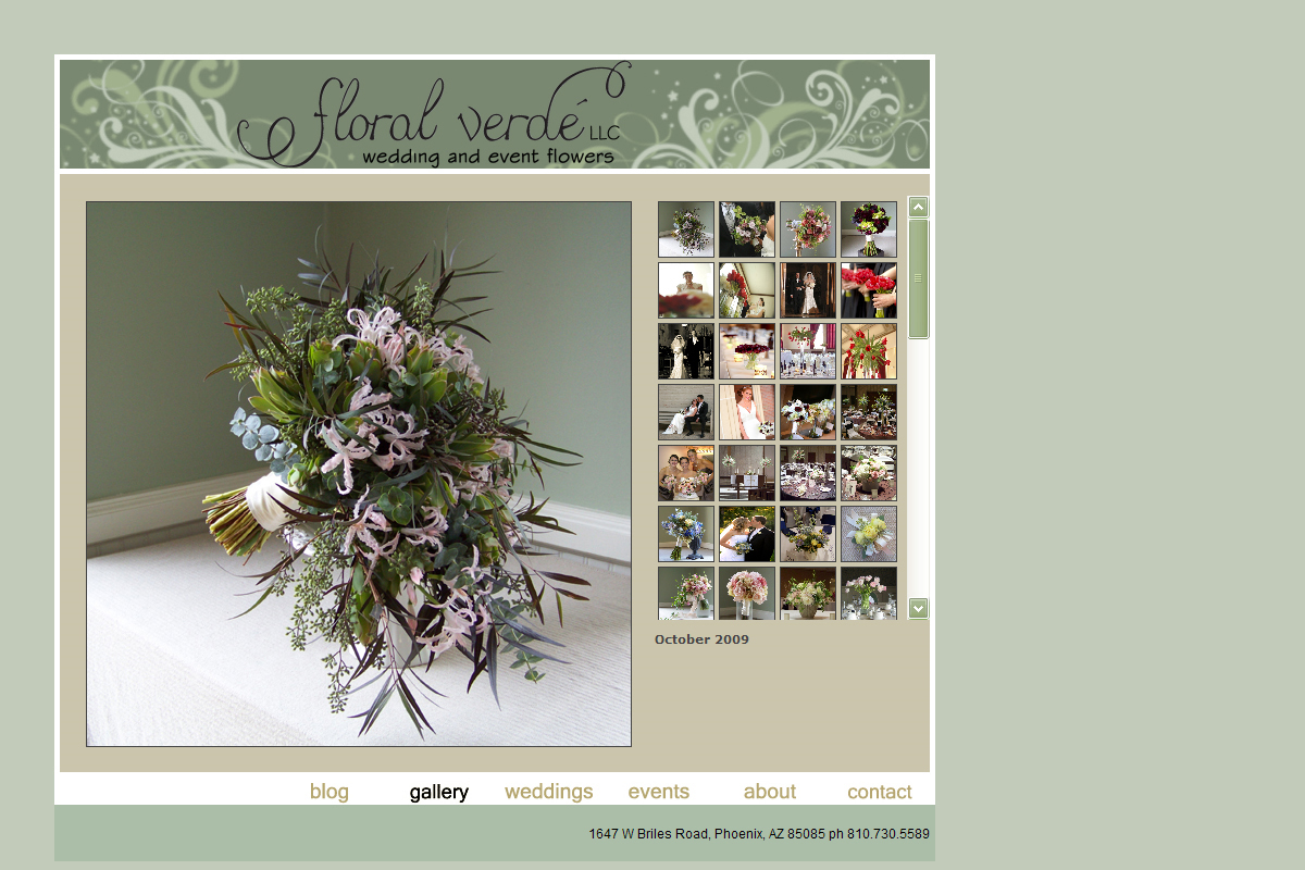 Floral Verde LLC's old website