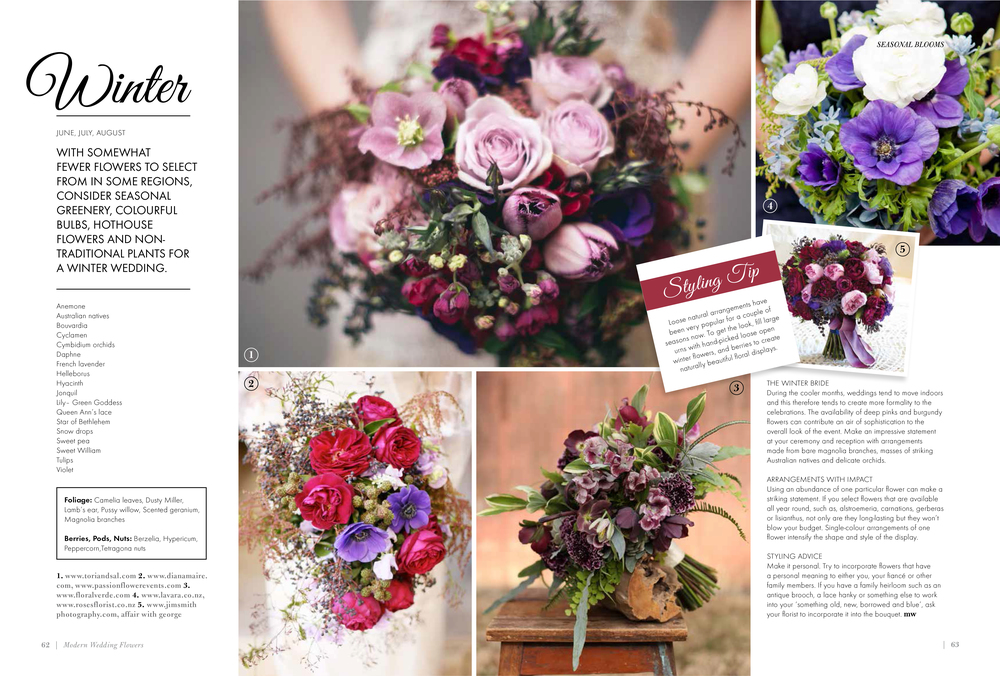 Modern Wedding Flowers Magazine , Volume 17 2014