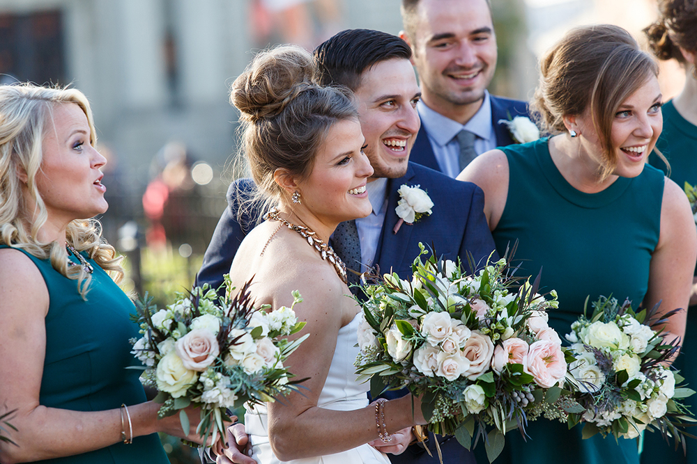 Wedding at The Transept, Cincinnati, Ohio. Flowers by Floral Verde LLC. Photo by Leppert Photography.