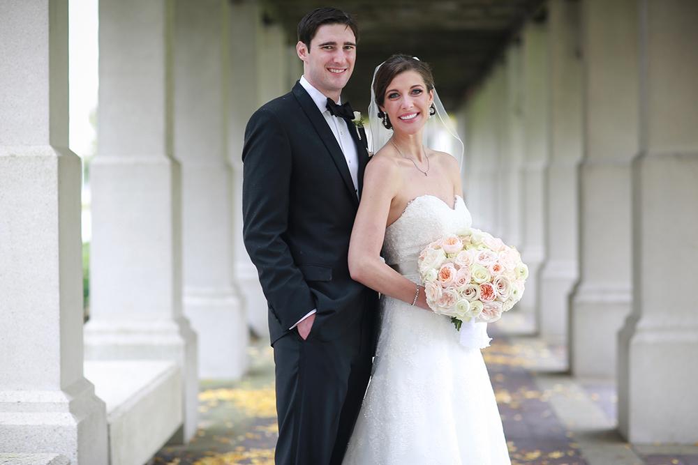 Wedding Ceremony at St. Francis Xavier Church, Cincinnati, Ohio. Flowers by Floral Verde LLC. Photo by Sherri Barber.