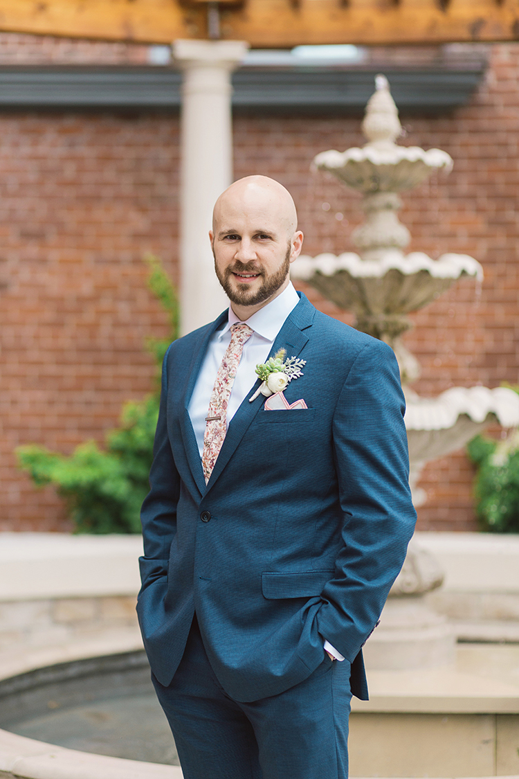 Wedding Ceremony at The Monastery Event Center in Cincinnati, Ohio. Flowers by Floral Verde. Photo by Amanda Donaho Photography.