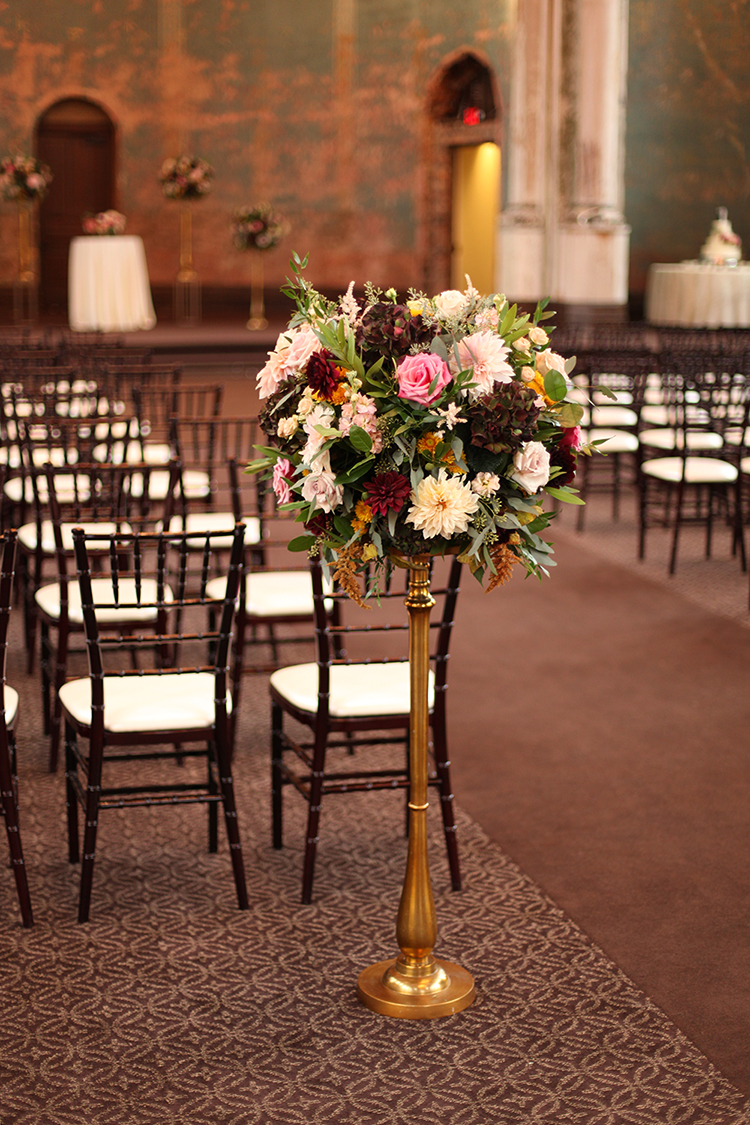 Wedding at The Monastery Event Center in Cincinnati, Ohio. Flowers by Floral Verde.
