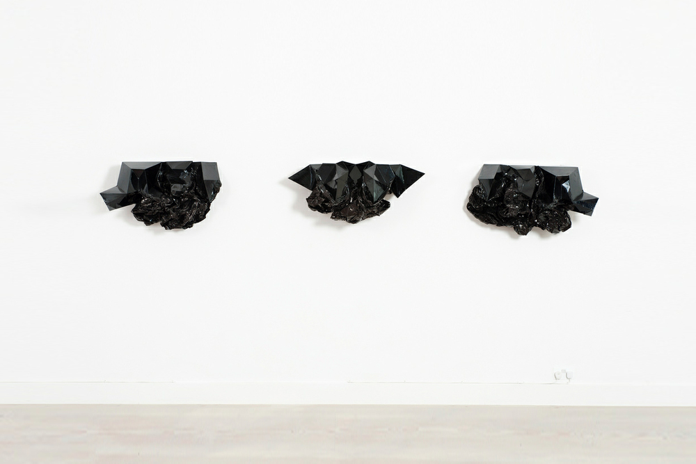 Ink Blot Series , Mylar tape, plastic, aluminum, motor, 2009-2011