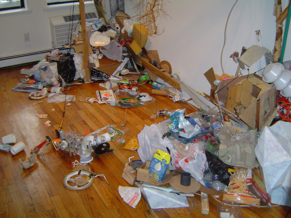 Trash , Trash, wood, motors. 2004
