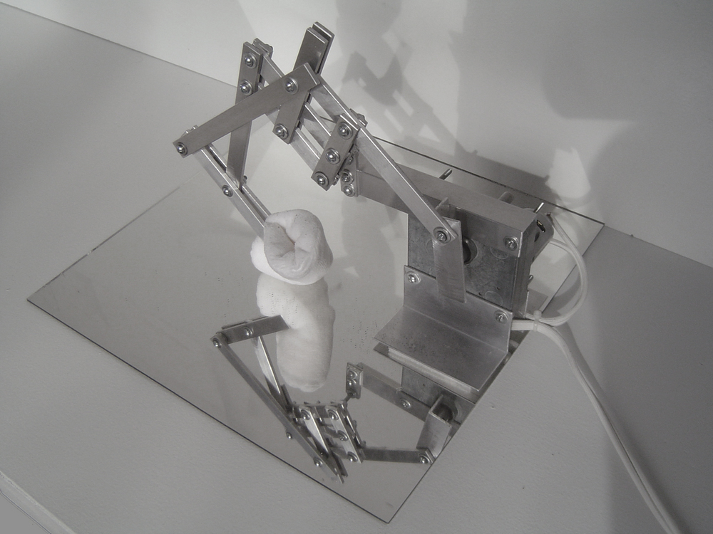 Narcissus , Aluminum, cotton, mirror, motor. 2005