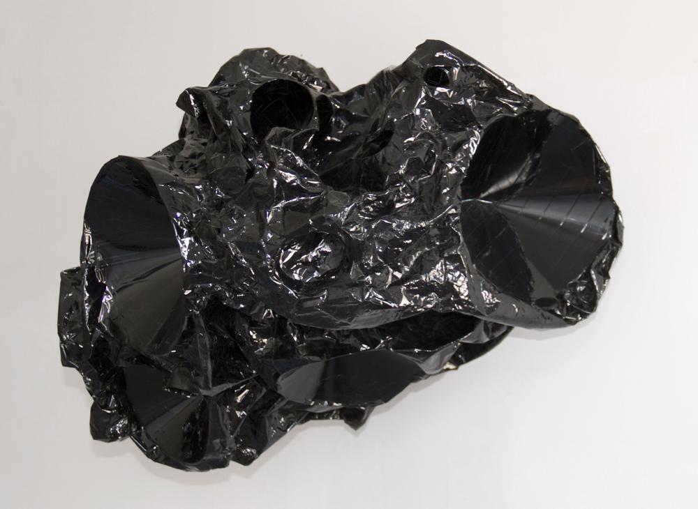 Canker , Mylar tape, plastic, aluminum, motor, 2012