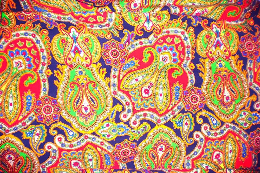 classic 1960s paisley print