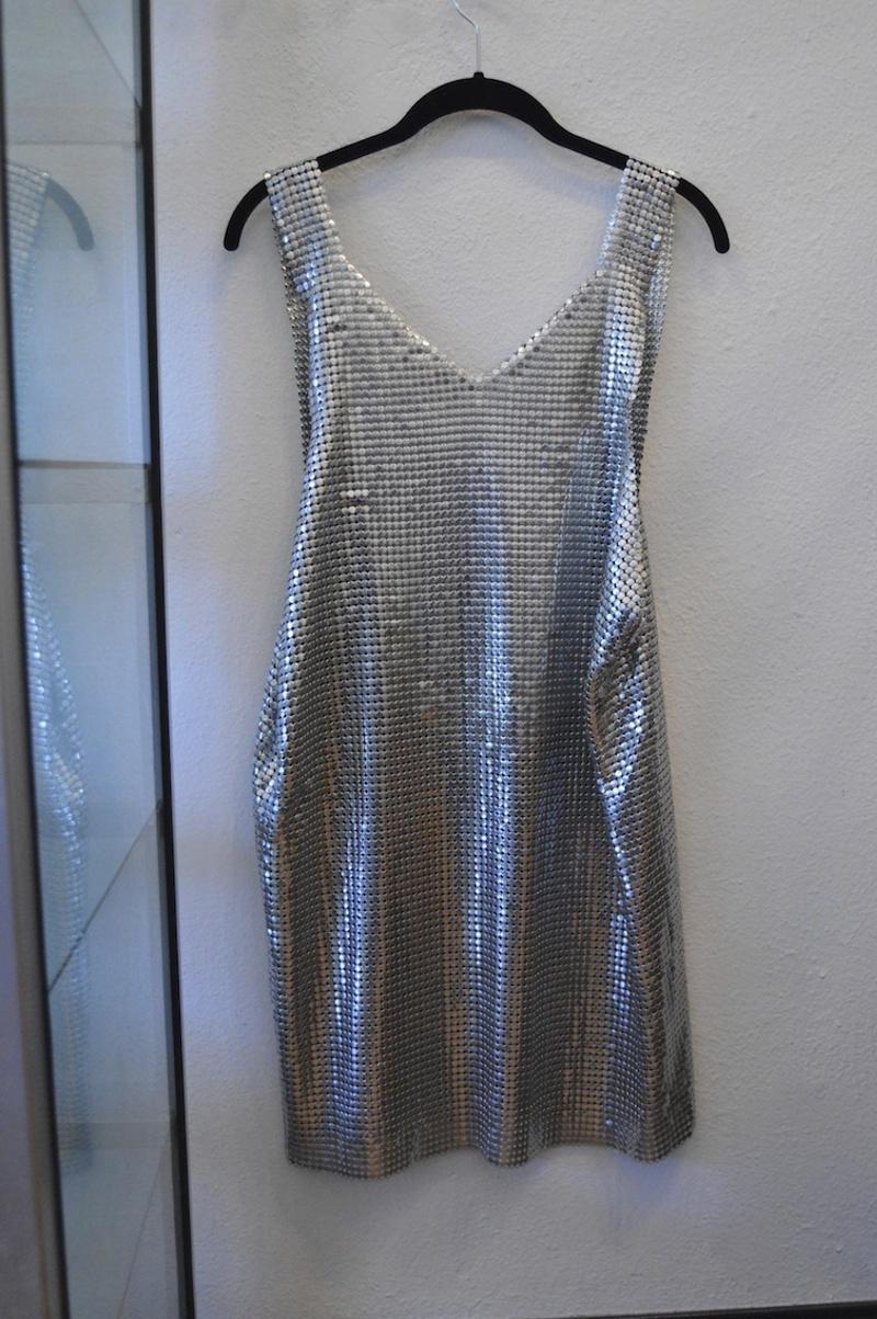 Silver chain dress
